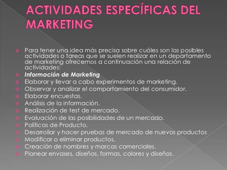 Departamento mercadeo y publicidad for Actividades que se realizan en una oficina wikipedia