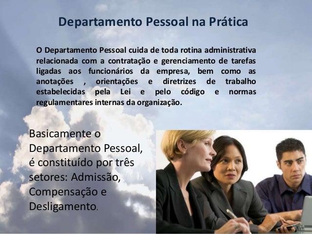 Departamento pessoal na prática noçoes ppt Slide 2