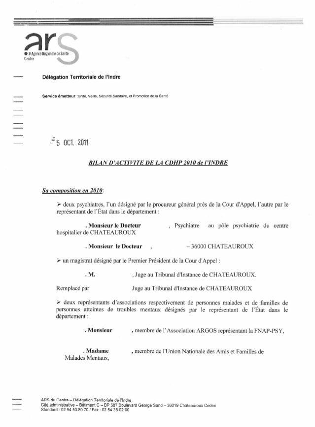 Délégation Territoriale de l'Indre Service émetteur :Unité, Veille, Sécurité Sanitaire, et Promotion de la Santé .- .: 5 t...