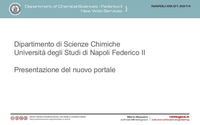 Dipartimento di Scienze Chimiche Università degli Studi di Napoli Federico II Presentazione del nuovo portale