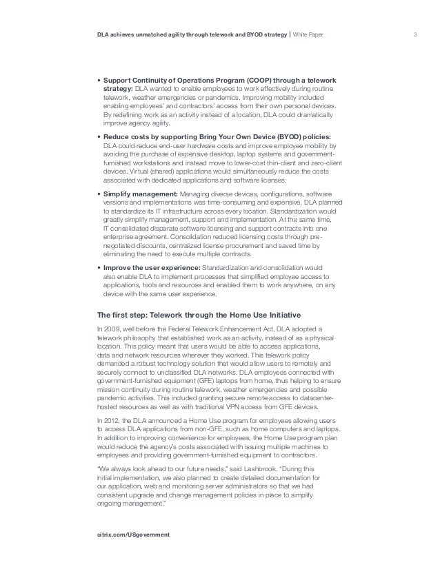 Us federal government telework byod strategy whitepaper 3 platinumwayz