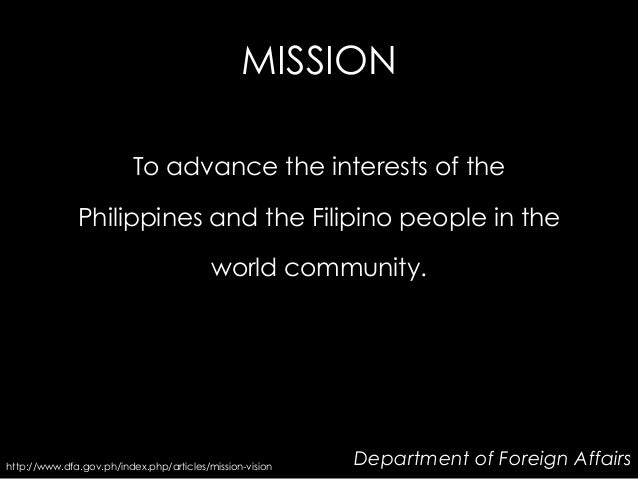 Mandate and vision mission of department of finance - Department of foreign affairs offices ...