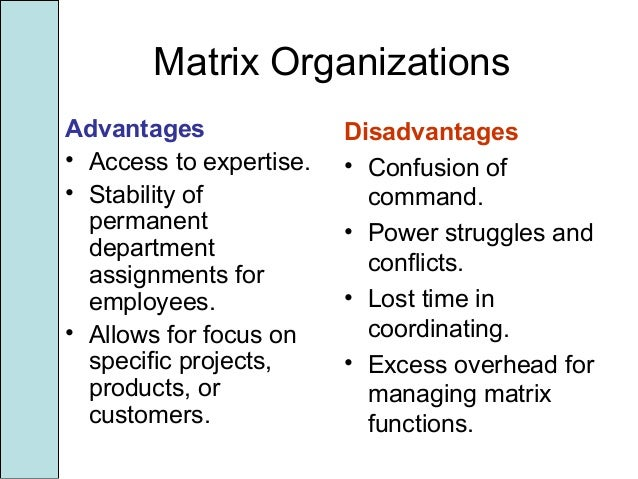 advantages and disadvantages of dhl matrix structure Types of organizational structure  besides advantages, there are certain disadvantages of functional structure too which are as follow the accountability is pushed at top  but the advantages of the sbu structure are always much more than the disadvantages matrix structure.