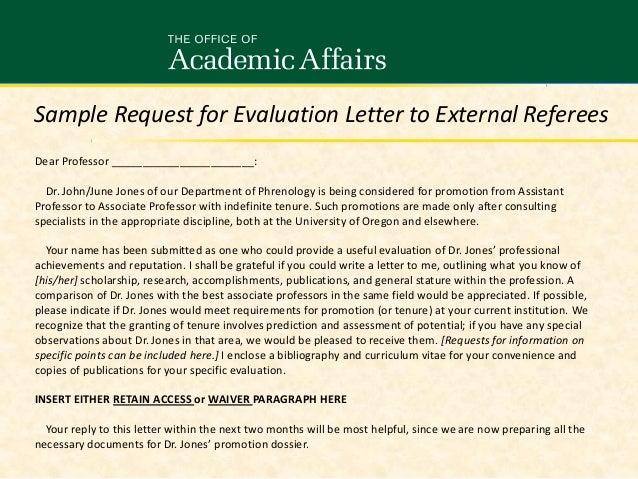 Sample Request For Evaluation Letter