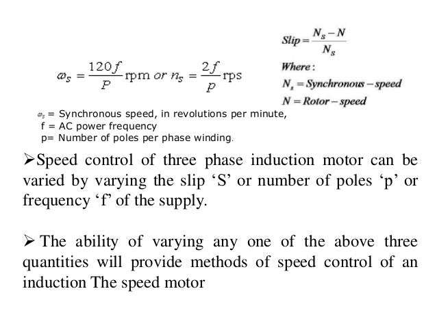 CHAPTER 3 INDUCTION MOTOR AND DIFFERENT SPEED CONTROL