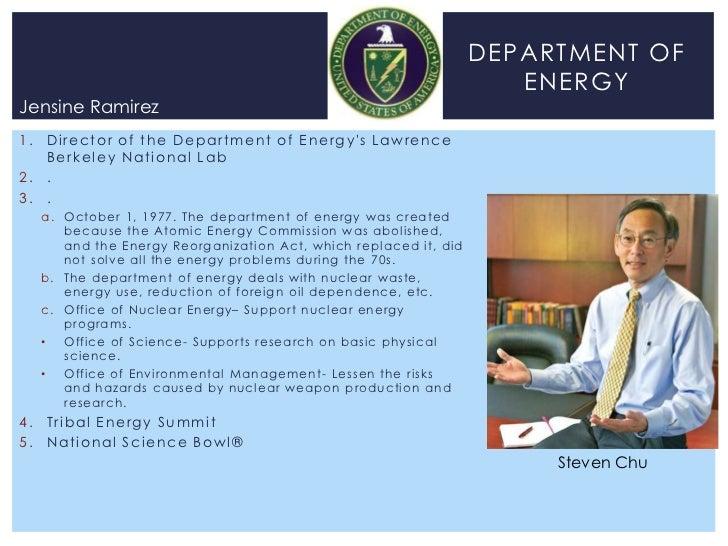 DEPARTMENT OF                                                                                         ENERGYJensine Ramire...