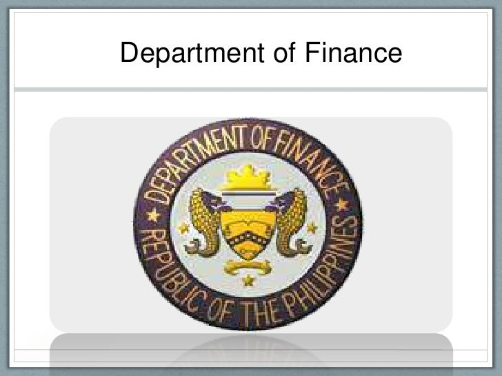 Department of Finance<br />