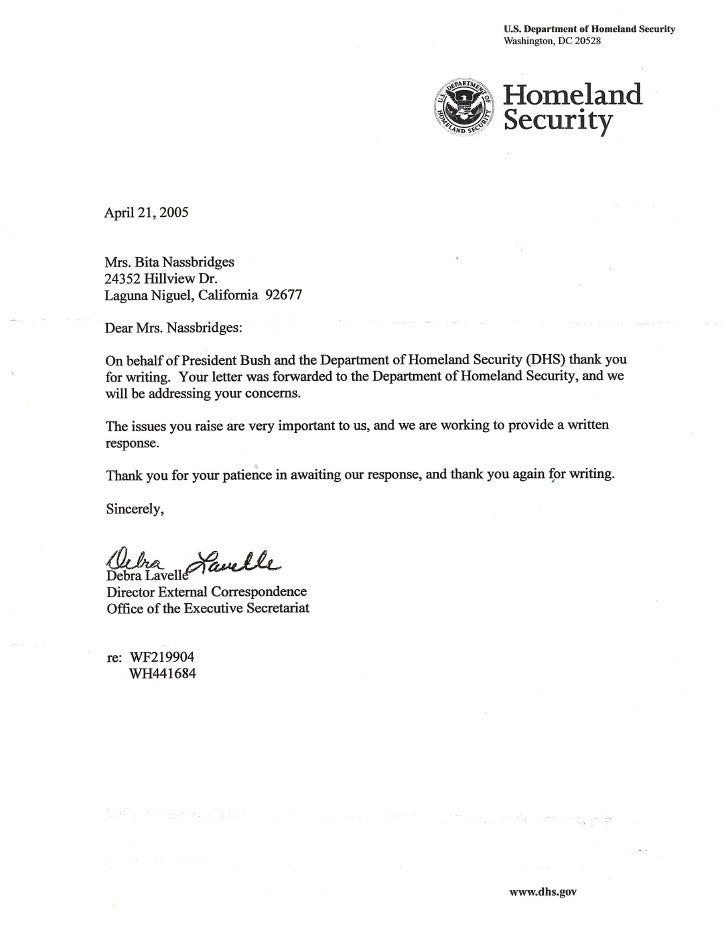Homeland Security Sends Ryan A