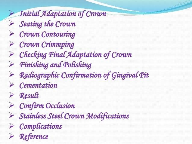Stainless Steel Crown (Department of pedodontics) Slide 3
