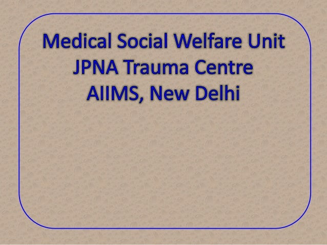 Present Activities of MSW Unit • Payment Exemptions of treatment/implants/ diagnostic tests/aids/appliances charges for th...
