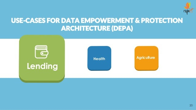 USE-CASES FOR DATA EMPOWERMENT & PROTECTION ARCHITECTURE (DEPA) 20 AgricultureHealth Lending