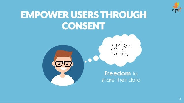 Freedom to share their data EMPOWER USERS THROUGH CONSENT 3