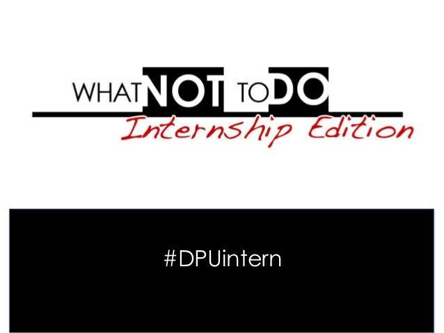 #DPUintern