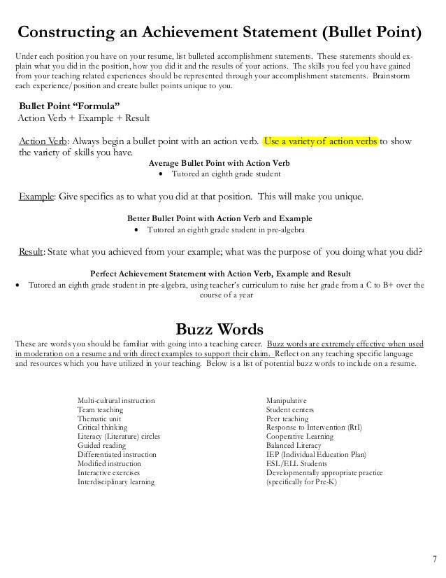 Resume Achievement Statements Examples personal statement examples for resume achievement examples for resumes achievement resume examples brilliant sample resume example 7 7 Constructing An Achievement Statement
