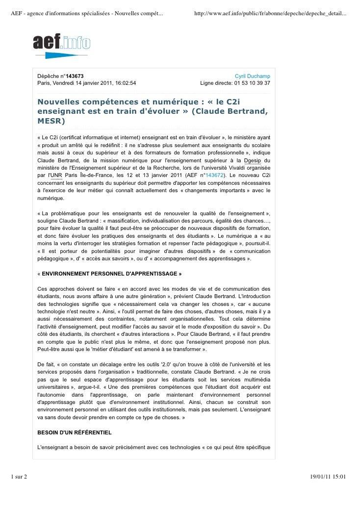 AEF - agence dinformations spécialisées - Nouvelles compét...                http://www.aef.info/public/fr/abonne/depeche/...