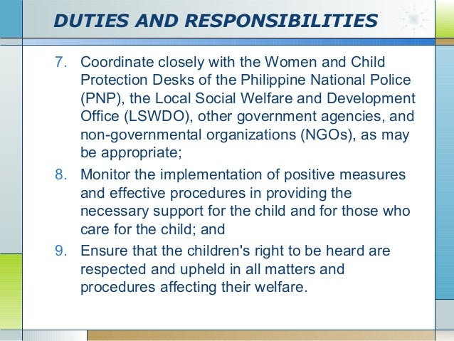 duties and responsibilities police officers responsibilities