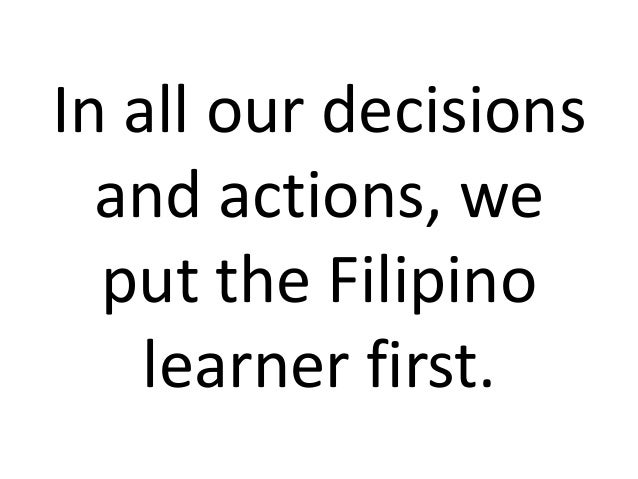 DepEd's New Vision, Mission and Core Values
