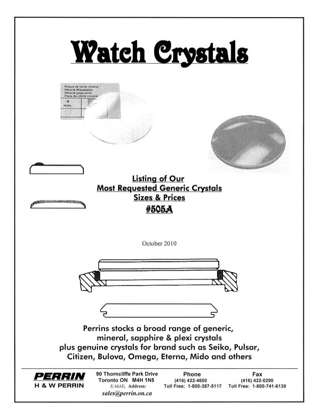 1(~                        Listing of Our                Most Requested Generic Crystals                        Sizes & Pr...