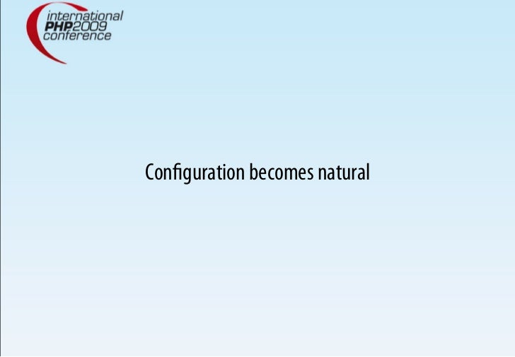 Configuration becomes natural