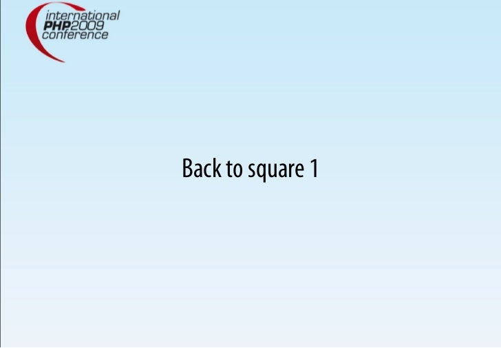 Back to square 1