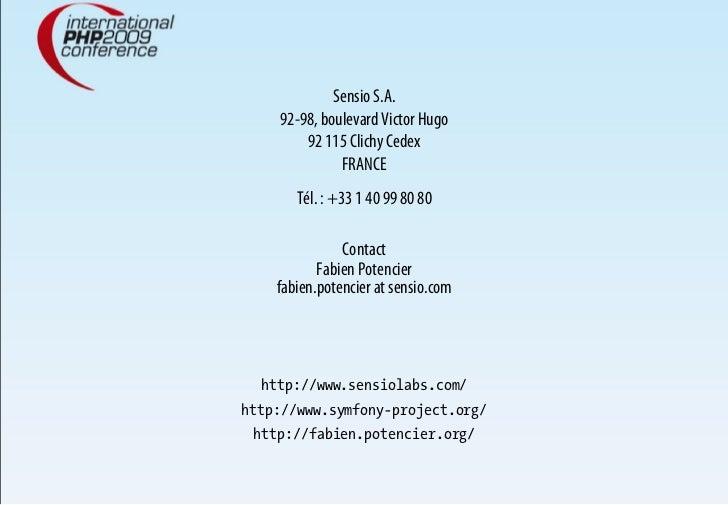 Sensio S.A.     92-98, boulevard Victor Hugo         92 115 Clichy Cedex               FRANCE        Tél. : +33 1 40 99 80...