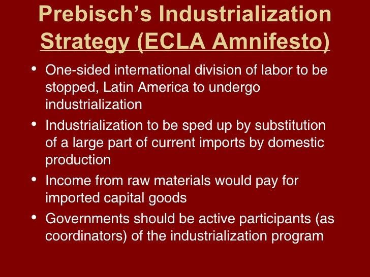 ecla thesis (this is the ecla thesis on which its delinking strategy of import substitution is based) this argument does not refute the classical and neo- publications of the .