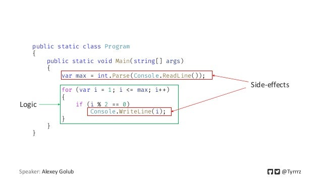 public static class Program { public static void Main(string[] args) { var max = int.Parse(Console.ReadLine()); for (var i...