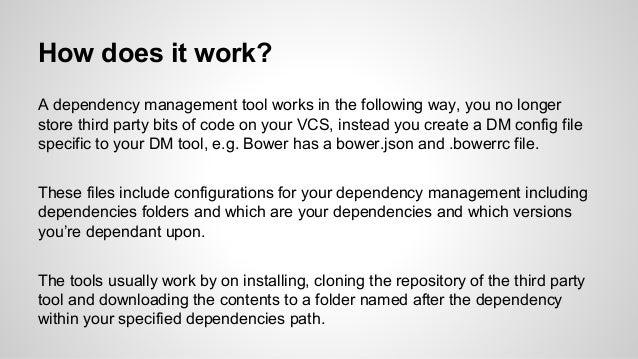 Dependency management Slide 3
