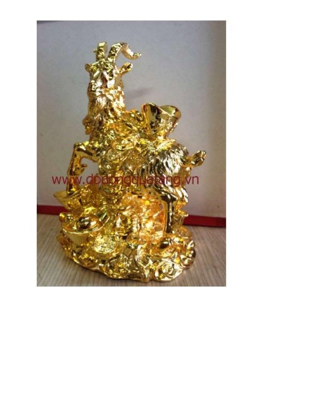 Dephonthuy - Qùa tặng dê mạ vàng 24k,dê đồng phong thủy Slide 2