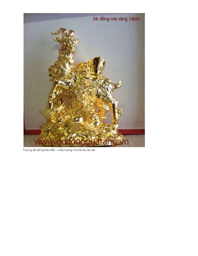 Dephonthuy - Qùa tặng dê mạ vàng 24k,dê đồng phong thủy Slide 3