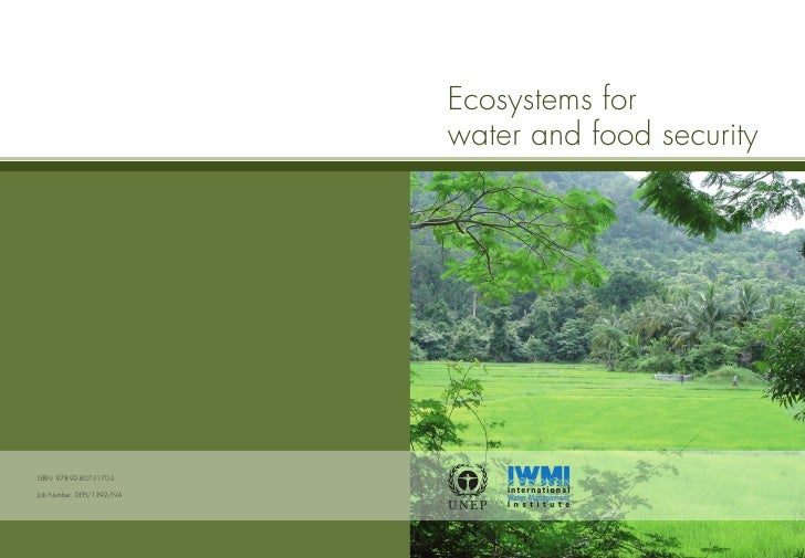 Ecosystems forwater and food security        International        Water ManagementU NEP   I n s t i t u t e