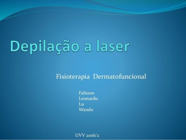 Fisioterapia Dermatofuncional Fabiane Leonardo Lu Wando UVV 2016/2