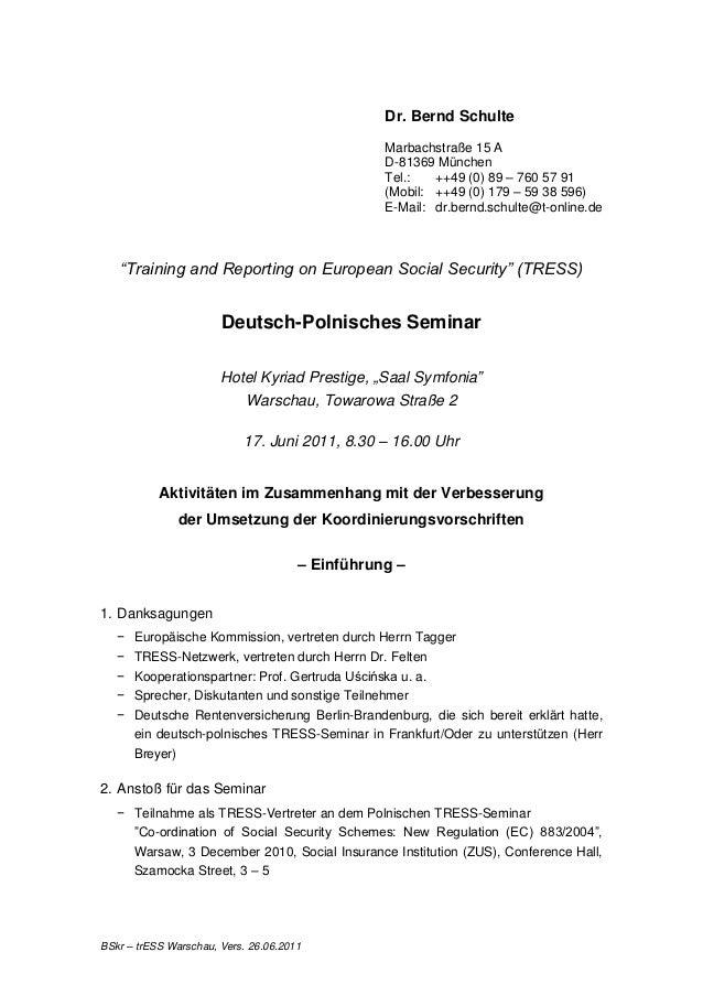 Dr. Bernd Schulte                                                 Marbachstraße 15 A                                      ...