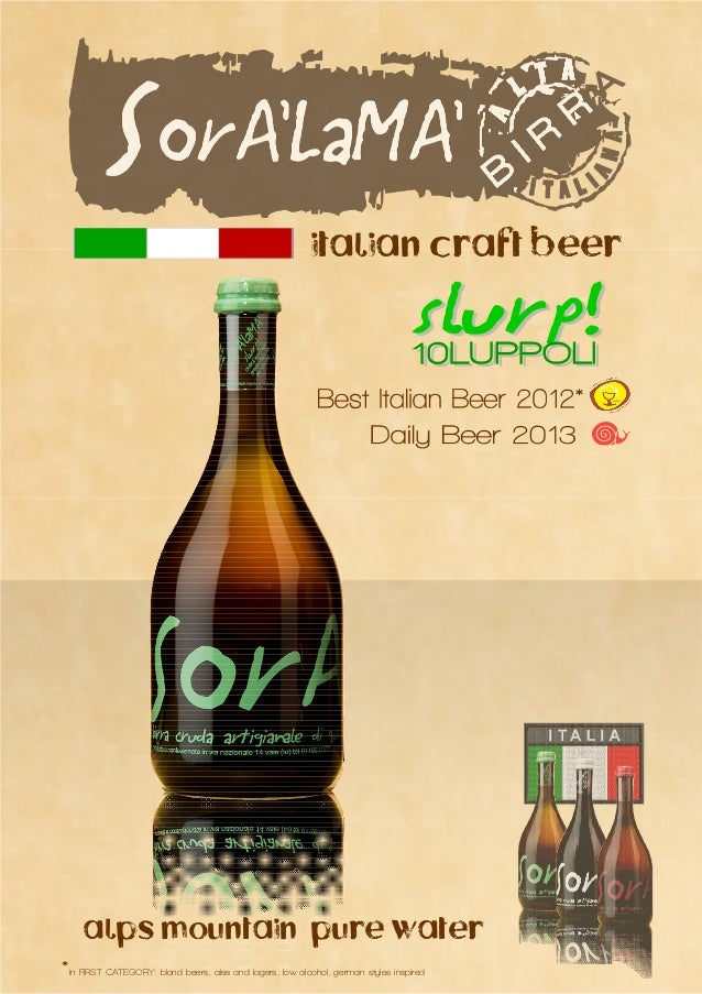 italian craft beer     alps mountain pure water*in FIRST CATEGORY: blond beers, ales and lagers, low alcohol, german style...