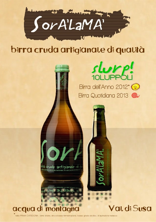 birra cruda artigianale di qualitàacqua di montagna                                                                       ...