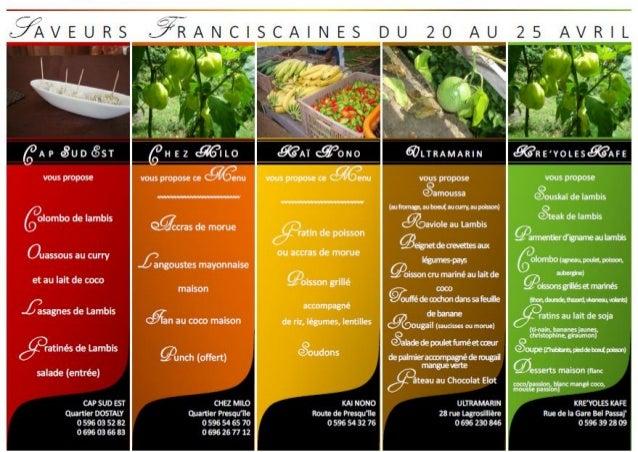 Programme « Au carrefour des saveurs franciscaines » Slide 3