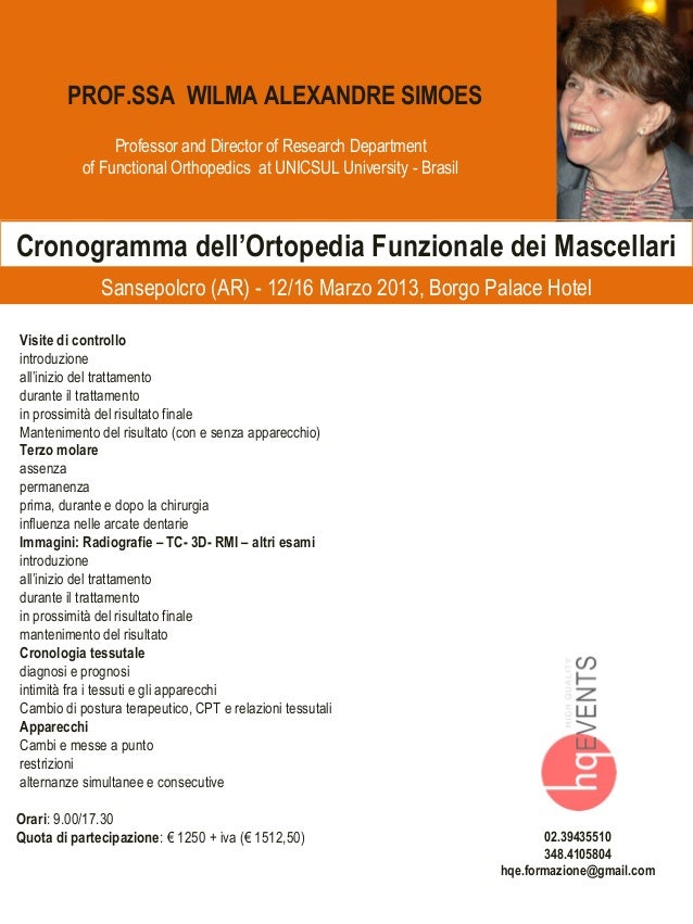 PROF.SSA WILMA ALEXANDRE SIMOES                Professor and Director of Research Department           of Functional Ortho...