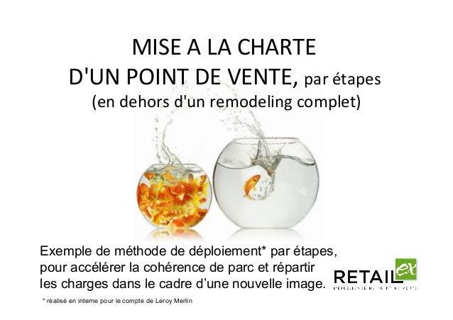 MISEALACHARTE D'UNPOINTDEVENTE,parétapes (endehorsd'unremodelingcomplet) Exemple de méthode de déploiemen...