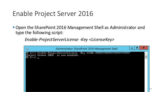 project server 2016 key