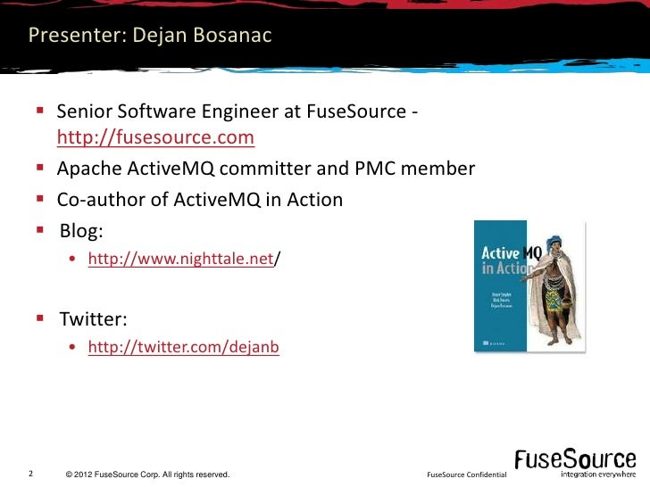 Deploying FuseMQ with Fuse Fabric Slide 2