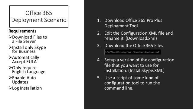 Deploying office 365 pro plus