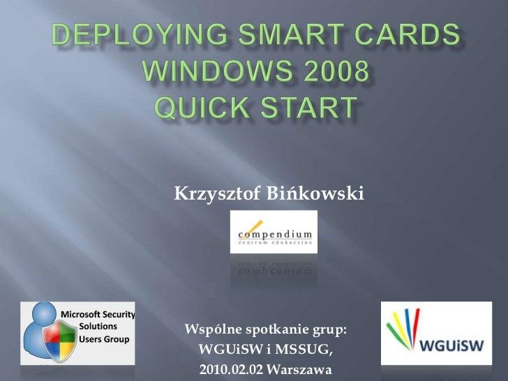 Krzysztof Bińkowski Wspólne spotkanie grup:  WGUiSW i MSSUG,  2010.02.02 Warszawa