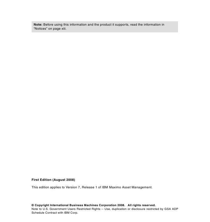 deployment guide series maximo asset mng 7 1 rh slideshare net Maximo Logo Maximo Icon
