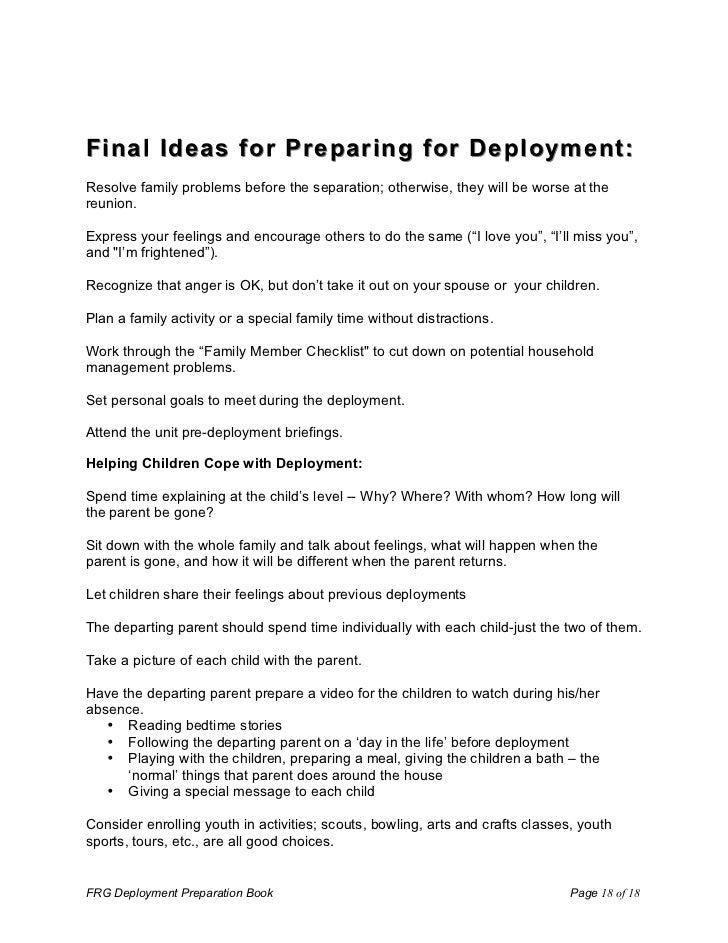 Deployment Preparation Book