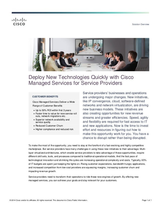Solution Overview © 2014 Cisco and/or its affiliates. All rights reserved. This document is Cisco Public Information. Page...