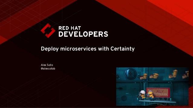 Deploy microservices with Certainty Alex Soto @alexsotob