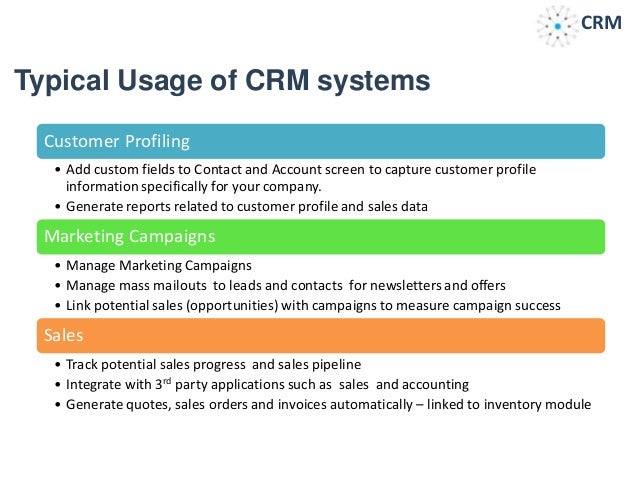 introduction to customer relationship management Crm stands for customer relationship management others prefere to call it client relationship management mainly, the crm software allows businesses to manage business relationships, the data and the information associated with them.