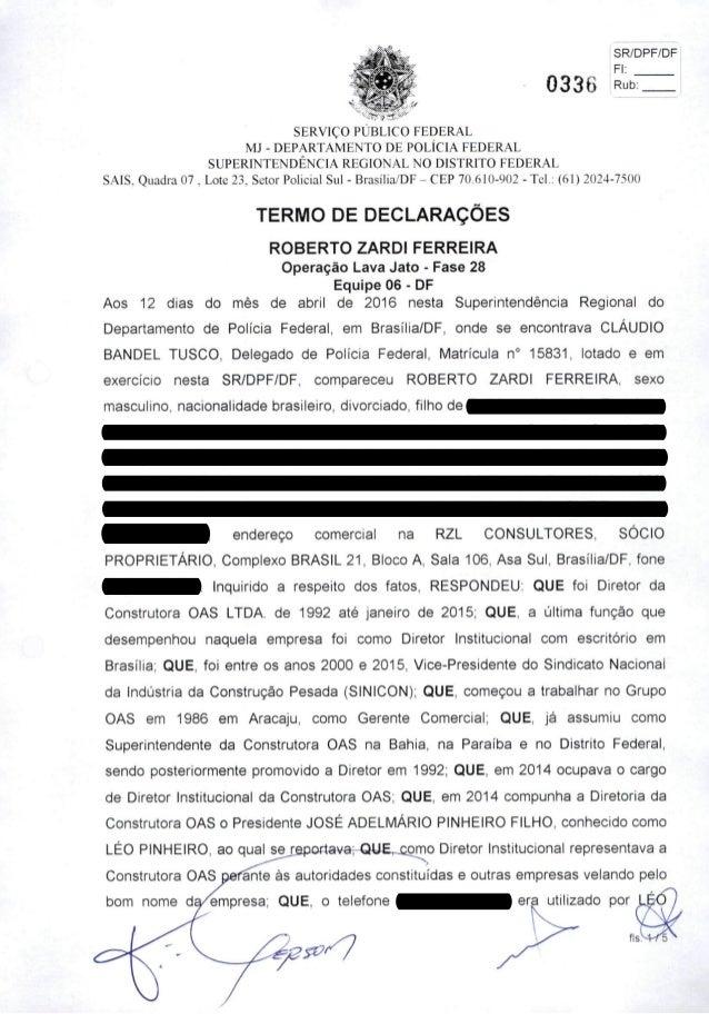 SR/DPF/DF  Fl: I 0336 SERVIÇO PÚBLICO FEDERAL MJ - DEPARTAMENTO DE POLÍCIA FEDERAL SUPERINTENDÊNCIA REGIONAL NO DISTRITO F...