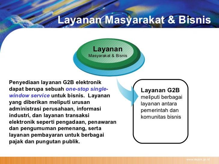 Layanan Masyarakat & Bisnis www.depok.go.id Layanan Masyarakat & Bisnis Layanan G2B   meliputi berbagai  layanan antara pe...