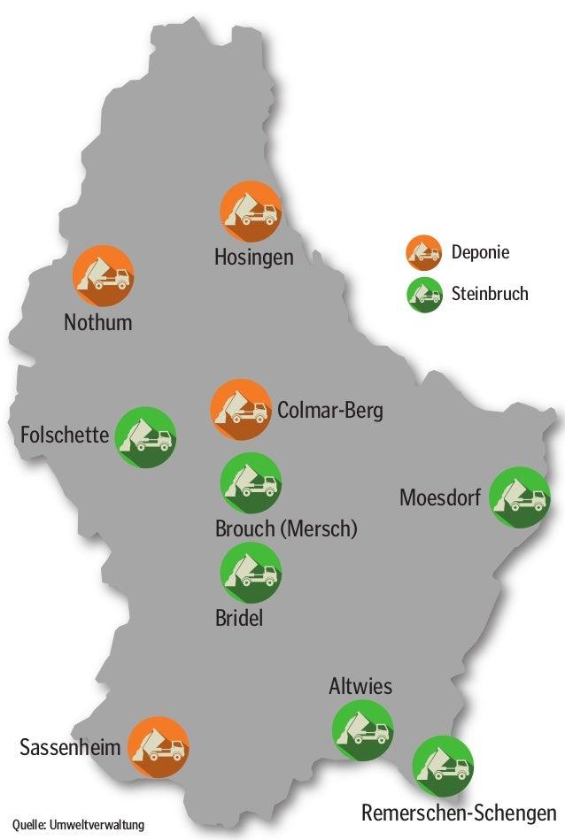 Hosingen Nothum Moesdorf Colmar-Berg Brouch (Mersch) Bridel Sassenheim Altwies Remerschen-Schengen Folschette Deponie Stei...